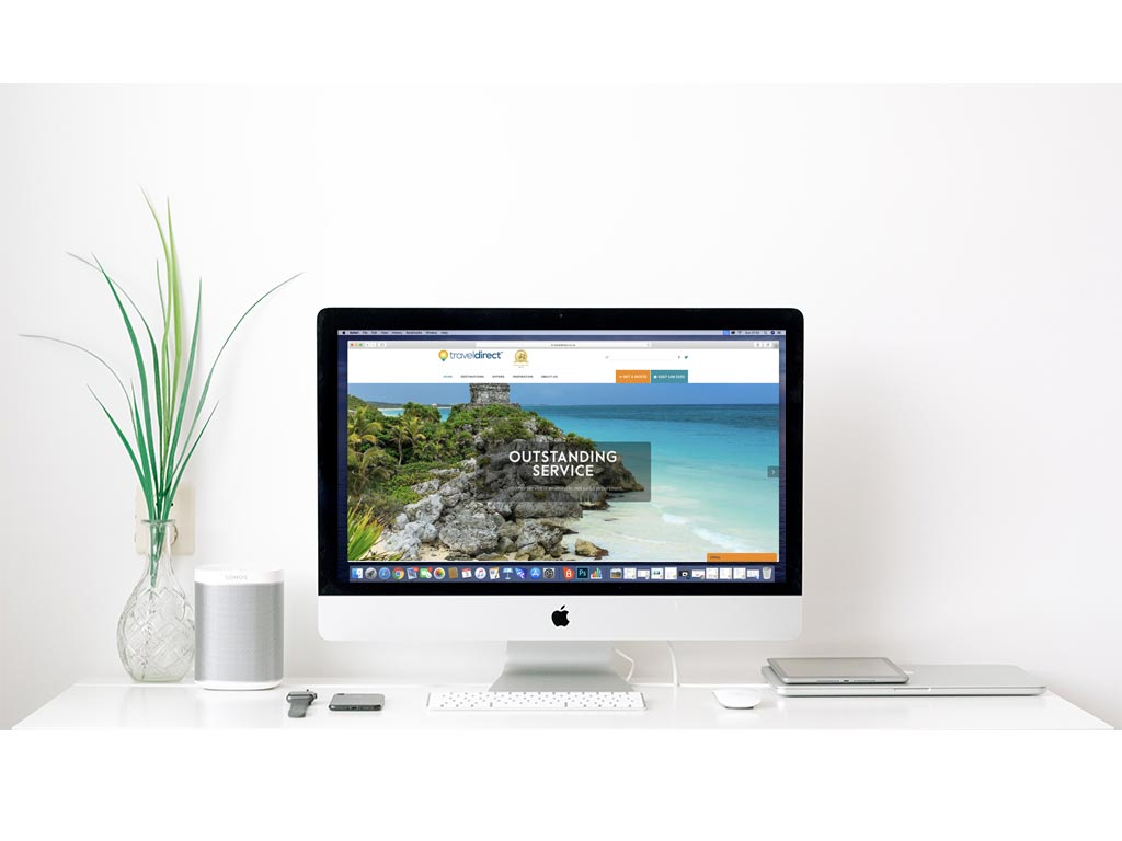 Brandwaves web design clients - Travel Direct